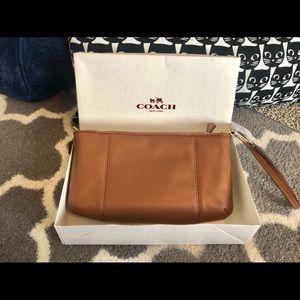 Coach Bags - COACH Colette Zip Wristlet Saddle
